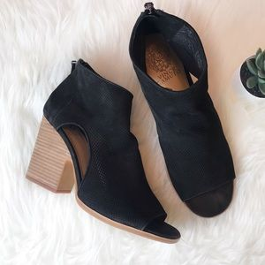 New Vince Camuto Bevina Peep Toe Boots